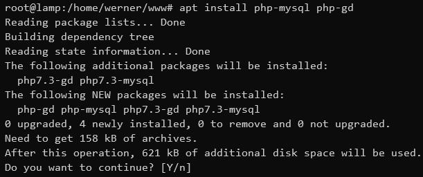 PHP Module installieren