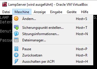 VirtualBox Sicherungspunkt erstellen