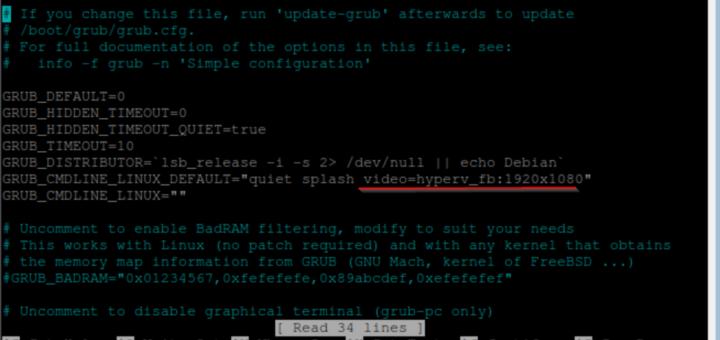 Linux VM Auflösung ändern