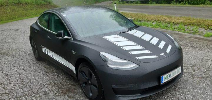foliertes Tesla Model 3