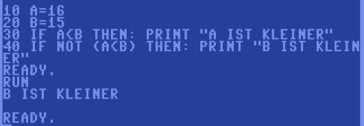 C64 Basic if Abfrage