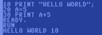 c64 Basic Variablen