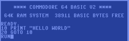 c64 hello world