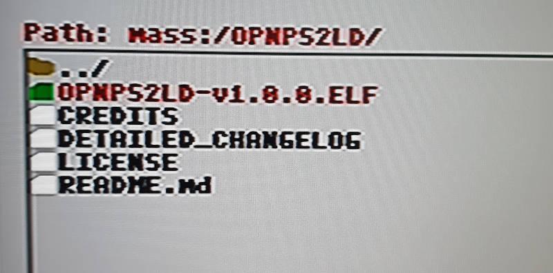 OPL elf Datei auf USB-Stick