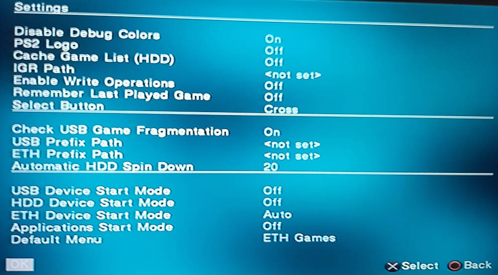 opl eth settings