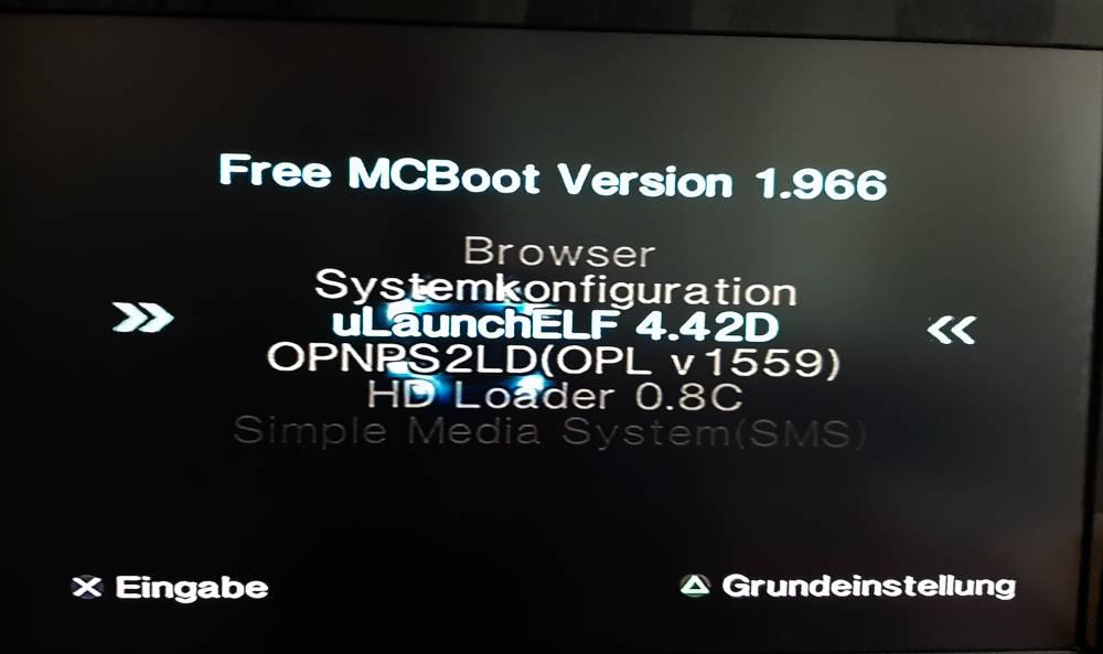 uLaunchELF fmcb Insallation PS2