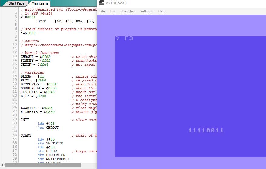 C64 Text Eingabe